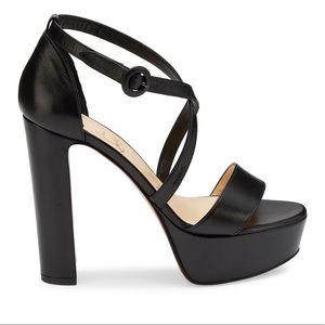 Loubi Bee Platform Leather Sandals